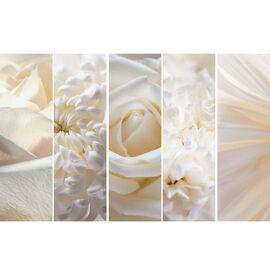 Alto Canvas Set - White Flowers - Set of 5