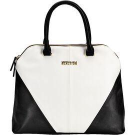 Kenneth Cole Architect Dome Satchel - White/Black