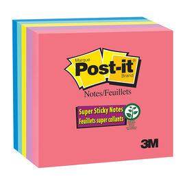 3M Post-it Notes Super Sticky - Jewel Pop Collection - 3 x 3inch - 5 pads/pack