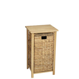 London Drugs Rubberwood Water Hyacinth Cabinet - Natural