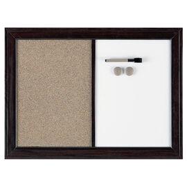 Quartet Dry Erase and Cork Board - Espresso - 17x23 inches