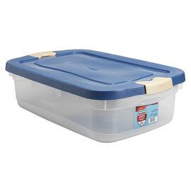 Rubbermaid Roughneck Latch Box - Clear - 29L