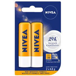 Nivea Lip Care Sun - SPF30 - 2 x 4.8g