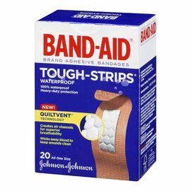 Johnson & Johnson Band-Aid Tough-Strips Waterproof - One Size - 20's