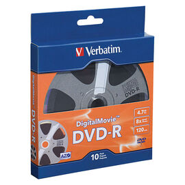 Verbatim DVD-R 4.7GB 8X with DigitalMovie Surface - 10 pack