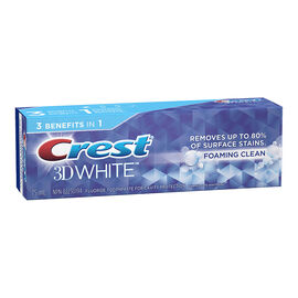 Crest 3D White Toothpaste - Foaming Clean - 75ml