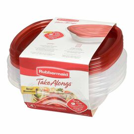 Rubbermaid TakeAlongs Sandwich Containers - Assorted - 4 pack