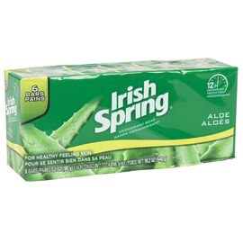 Irish Spring Deodorant Soap with Aloe - 6 x 90g