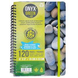 Onyx Green Stone Paper Notebook - 6x9 inches