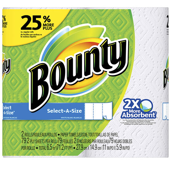Bounty Paper Towels - Select-A-Size - 2's/88 Sheets