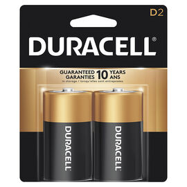Duracell CopperTop D Alkaline Batteries - 2 pack