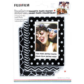 Fuji Instax Magnetic Photo Frames - White/Black - 3 Pack - 600017185