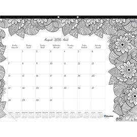 Blueline Monthly Desk Pad - Large