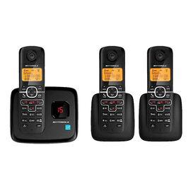 Motorola 3 Handset Cordless Phone with Answering Machine - Black - L703M