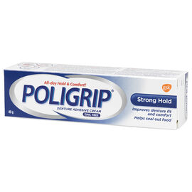 Poligrip Strong Hold Denture Adhesive Cream - 40g