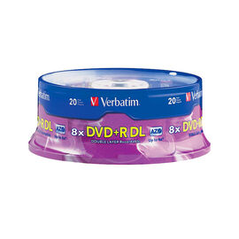 Verbatim AZO DVD+R DL 8.5GB 8X Storage Media - 20 pack