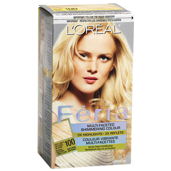 L'Oreal Feria Hair Colour - 100 Very Light Natural Blonde | London ...