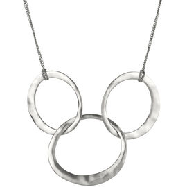 Kenneth Cole Circle Link Frontal Necklace - Silver Tone