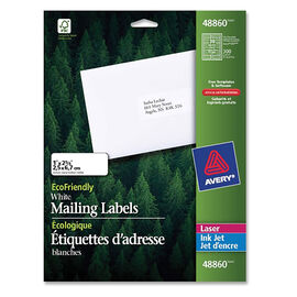 Avery EcoFriendly White Mailing Labels - 1 x 2-5/8 Inches - 300