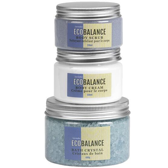 ECOBALANCE Mesh Bath Gift Set - Lavender - 3 piece