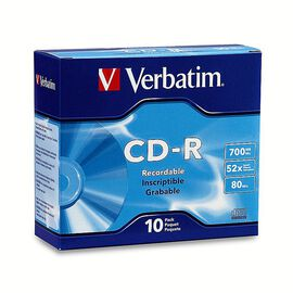 Verbatim 700MB 52X CD-R Storage Media - 10 pack