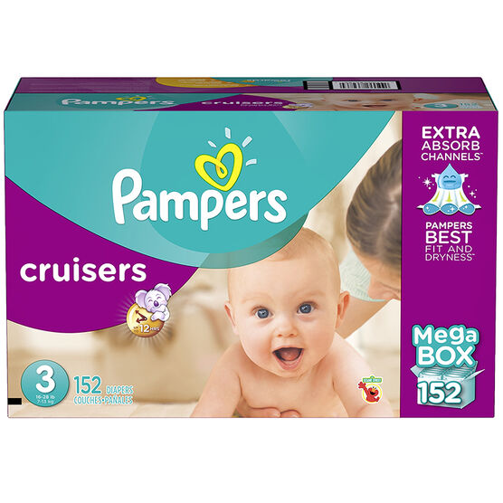 Pampers Cruisers Diapers - Size 3 - 152s