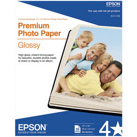 Epson Premium Photo Paper Glossy - 11 x 14 inch - 20 sheets - S041466