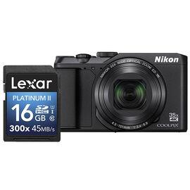 Nikon Coolpix A900 with Lexar Platinum II 300X 16GB Memory Card - PKG #33671