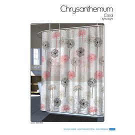Splash Vinyl Shower Curtain - Chrystals Coral