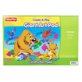 Fisher Price Giant Art Pad Construction Paper