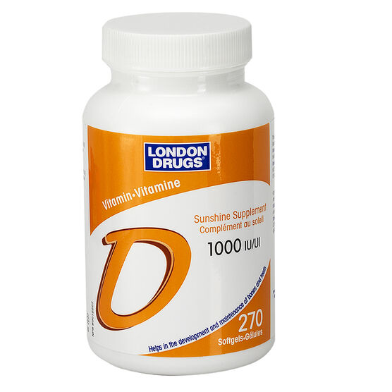 London Drugs Vitamin D Softgels - 1000iu - 270's