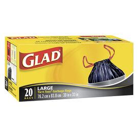 Glad Tie 'n Toss Wide Garbage Bags - 20's