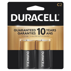 Duracell CopperTop C Alkaline Batteries - 2 pack
