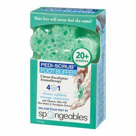 Spongeables Pedi-Scrub Foot Buffer - Citron-Eucalyptus Aromatherapy