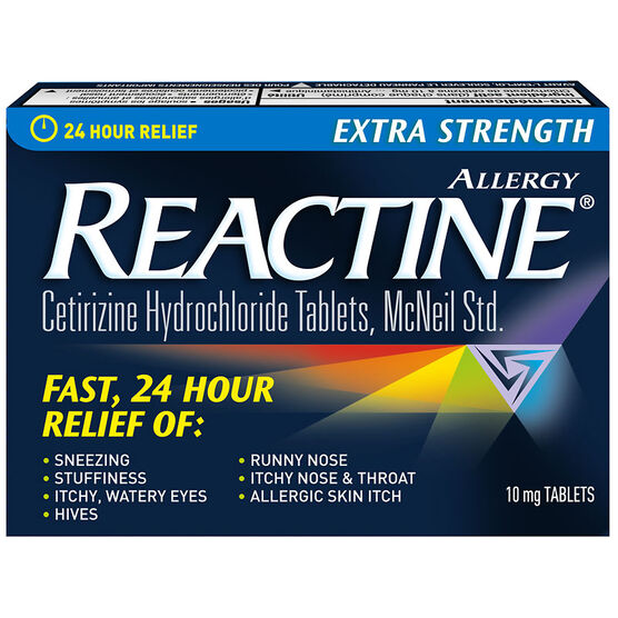 Reactine Allergy Tablets Extra Strength 10mg - 10's