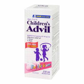Advil Children's Suspension - Bubble Gum - 230ml