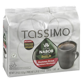 Tassimo Nabob Coffee Pods - Bold Gas Town - 12 servings