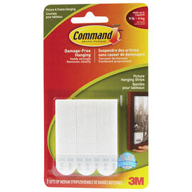 Command Picture Hanging Strips - Medium - 3's