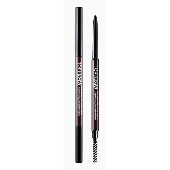 Kiss Pro Top Brow Fine Precision Brow Pencil - Deep Dark Brown