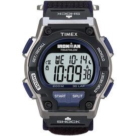 Timex Ironman Triathlon 30 Lap Shock-Resistant Watch - Silver/Dark Blue - 5K198