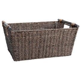 London Drugs Seagrass Basket - Dark Brown - Large