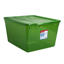 Rubbermaid Cleverstore Latch Box - Lime Green - 66L