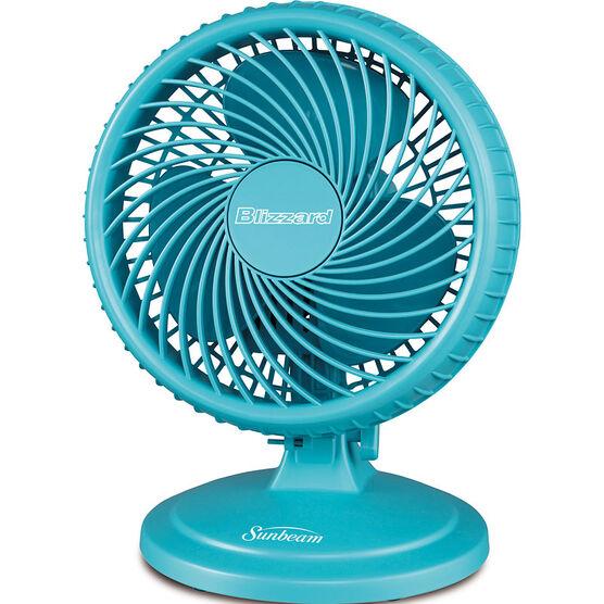 Sunbeam Desk Fans : Sunbeam blizzard inch table fan blue saof blzsb cnb