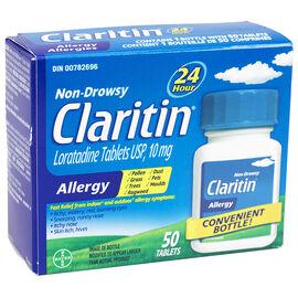 Claritin Non Drowsy 24 Hour Allergy - 10mg - 50 Tablets