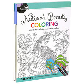 Spicebox Nature's Beauty Colouring Book - 8x10 inches
