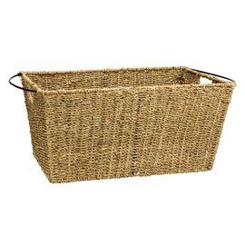 London Drugs Seagrass & Metal Basket - Large