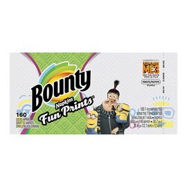 Bounty Napkins Fun Prints - 160's