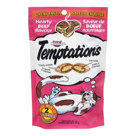 Whiskas Temptations Treats for Cats - Hearty Beef - 85g