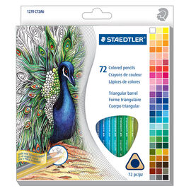 Staedtler Triangular Coloured Pencils - 72's