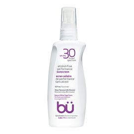 bu Alcohol-Free Performance Sunscreen - Natural White Sage Scent - SPF30 - 98ml